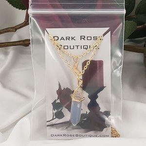 Dark Rose Boutique Jewelry - Moon Chakra Quartz Boho Necklace